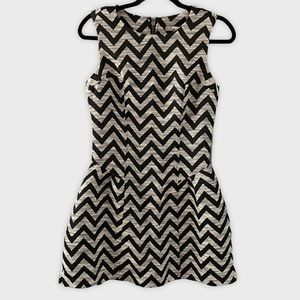 Forever 21 black and white chevron dress small NWT